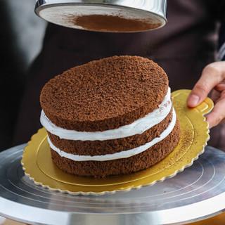 魔幻厨房(Magic Kitchen) 蛋糕垫 金色硬纸垫 慕斯蛋糕垫 生日蛋糕底托 硬质加厚 圆形金色卡托 8寸-5个装