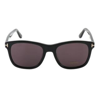 TOM FORD 汤姆福特 中性款黑色镜框黑色镜腿灰色镜片板材眼镜 太阳镜 TF595 F 01A 55MM