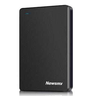 纽曼(Newsmy)500GB USB3.0 移动硬盘 清风金属版 2.5英寸 黎明黑 金属散热防划防磁防震 海量数据存储备份