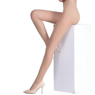 一统·红雨伞丝袜女超薄苹果臀5D无缝任意剪裁天鹅绒连裤袜 肉色均码