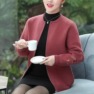雪夕 X-18CC043 中老年女士拉链开衫