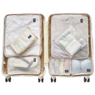 WYQN文艺青年 旅行便携收纳包男女出差行李箱衣物整理袋旅游洗漱袋套装七件套 灰色