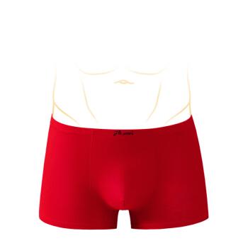 dingguagua 顶瓜瓜 内裤男士 棉质情侣中腰本命年大红色结婚平角裤2条装 6439-2 红色 男 180