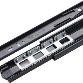 汇泰龙(Hutlon) 抽屉轨道滑轨阻尼滑道衣橱柜三节轨道导轨滑槽静音加厚黑色 DS-380-18