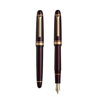 SAILOR 写乐 11-1031 漫步鱼雷 14K金F尖钢笔 亮红杆金夹 含吸墨器