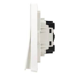 ABB开关插座面板 二开双控双开双控开关 轩致系列 白色 AF126