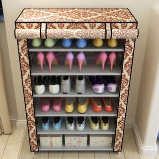 美家星 鞋架多层简易简约鞋柜 组装组合防尘置物架子收纳鞋柜D6