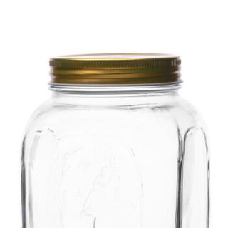帕莎帕琦进口密封罐无铅玻璃透明储物罐茶叶罐大号食品奶粉罐玻璃瓶厨房防潮干果杂粮罐1500ml80390