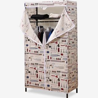 mzg/美之高 简易衣柜 VBK321 个性棉布款 牛津布 45*90*175cm