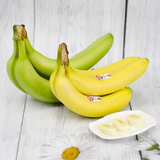 佳农 进口香蕉 生熟搭配装 2把装 单把约重500-600g 新鲜水果