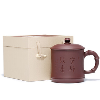 金镶玉 紫砂杯茶杯办公杯 宜兴紫砂泡茶杯工艺师手工 许建平宁静致远杯±500ml