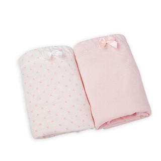 十月妈咪孕妇高腰托腹纯棉内裤 怀孕期舒适透气可调节两条包XL码170/102C