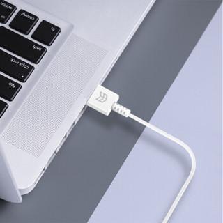 ESCASE 苹果数据线 iPhone充电线XsMax/XR/X/8/7/6Plus5iPad  mini4手机USB电源线适用原装充电器线1米C13白
