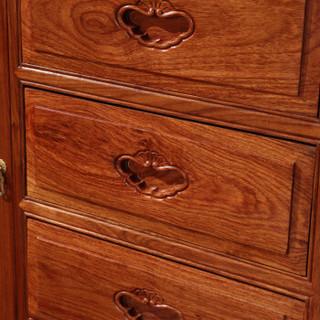 粤顺 红木餐边柜 中式简约收纳柜古典花梨木储物柜 G03