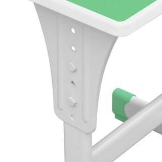 中伟中小学生培训辅导可升降单人课桌含椅子组合绿色定制加厚款