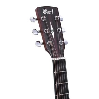 考特(CORT)Earth70MH单板民谣吉他41寸初学者入门圆角桃花芯木