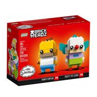 LEGO 乐高 41632 BrickHea方头仔系列 拼插积木 辛普森一家荷马小丑套装 小颗粒