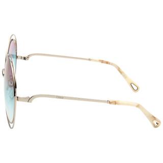 Chloé 蔻依 女士太阳镜CE114SD 浅金色镜框粉蓝色渐变镜片 62mm