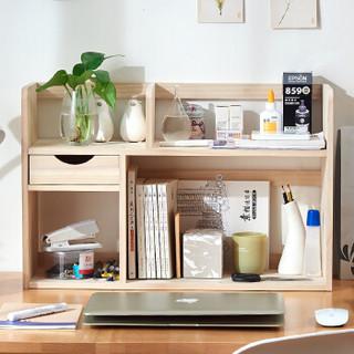 家逸桌面书架简易实木桌上小书架层架储物架收纳架