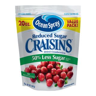 美国优鲜沛(Ocean Spray)减糖50%蔓越莓干 原味567g(蛋糕/面包/饼干烘焙原料)
