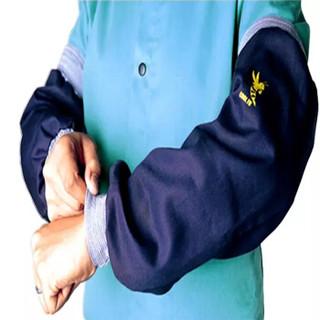 威特仕 / WELDAS 33-8421雄蜂王海军蓝阻燃棉电焊耐磨套袖手袖53cm长阻燃套袖 1副