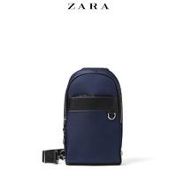 ZARA新款 男包 蓝色运动休闲斜挎包胸包 13502005010