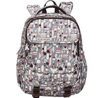 momogirl 茉茉桃 休闲双肩包女韩版学生书包大容量背包防水旅行包电脑包M5274浅灰天使