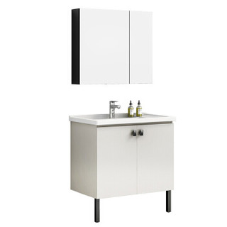 恒洁(HEGII)BK6011-080浴室柜挂悬式储物柜镜柜柜盆组合套装