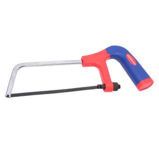 万克宝(WORKPRO)W016045N 6英寸红蓝双色柄扁钢锯架手用锯弓 手锯锯子带锯条