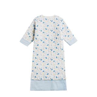 全棉时代 幼儿纱布夹棉长袍睡袋 110*55cm(建议3-4岁) 熊和鱼 1件装