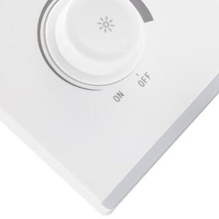 雷士(NVC) 开关插座面板 典雅白系列  调光开关 家用86型墙壁弱电面板 无边框大翘板面板白色