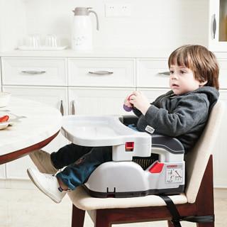 德国怡戈(Ekobebe)儿童餐椅 婴儿安全座椅二合一 便携式餐椅车载安全座椅 增高垫宝宝坐垫isofix接口蓝色