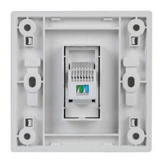 西门子(SIEMENS)开关插座 悦动系列 雅白色 电话插座 10只装