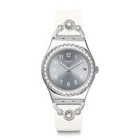 斯沃琪(Swatch)瑞士手表 金属系列 白衣佳人 石英女表YLS463