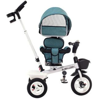 童车手推车 英国Babyjoey 三轮车脚踏车1-3-5岁 简易多功能手推车 至尊宝 精灵蓝