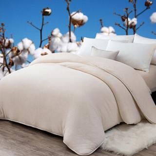 九洲鹿 纯新疆长绒棉花被子 双人床褥秋冬被胎棉絮被褥子 5斤 180*200cm