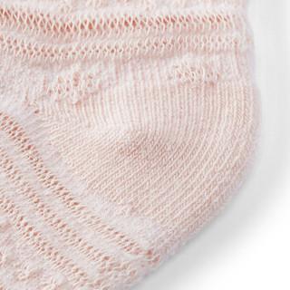 全棉时代 幼儿雪花袜 7.5cm(建议0-3个月)丁香紫+浅粉+白 3双装