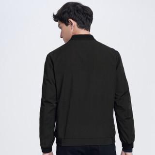 SEVEN 柒牌 夹克薄款中年男士商务休闲修身外套爸爸装茄克衫 115K20170