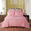 恒源祥 纯棉全棉被套单件 斜纹印花被罩床上用品 春风吹粉200*230cm