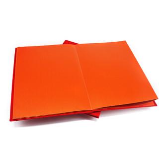 斯图 (sitoo)签到簿签到本嘉宾题名录结婚签名册【红色绒布35*22cm】
