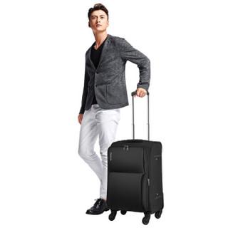 HANKE 汉客 升级版24英寸拉杆箱万向轮旅行箱男女行李箱子配密码锁  8039 黑色