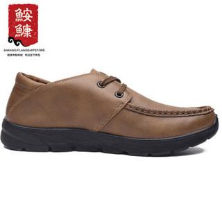 ANKANG 鮟鱇 休闲鞋男系带中老年爸爸老北京商务 AK50025 绿色 41