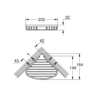 高仪(GROHE) 厨卫挂件 鲍系列都市型浴室角篮 置物篮