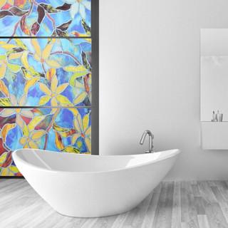 斯图sitoo 静电贴膜玻璃贴纸免胶3D窗户贴阳台卫生间浴室静电贴ST9601  90cm*2m 欧式经典大花