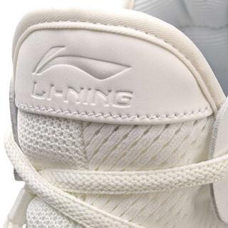 LI-NING 李宁 运动时尚系列  男子篮球休闲鞋  AGBN013-2  乳白色/海星褐  41.5码