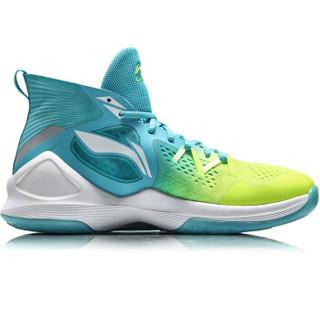 LI-NING 李宁 篮球系列 男子 篮球专业比赛鞋 ABAN037-1  荧光亮绿/卡普蓝  39码