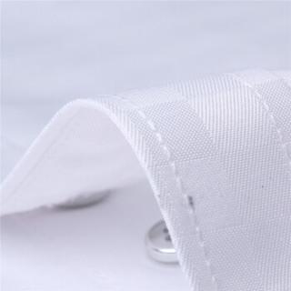 鳄鱼恤(CROCODILE)衬衫 男士商务休闲大码格子短袖衬衫 D08 白色 5XL/44