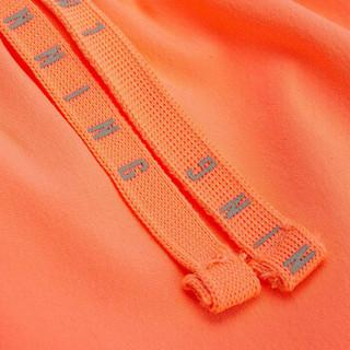 LI-NING 李宁 跑步系列女子运动短裤 AKSN028-3 荧光浅橙  XXL码