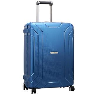 爱华仕 (OIWAS) 飞机轮行李箱商务旅行登机箱20英寸PP硬箱男女时尚拉杆箱 6330 蓝色