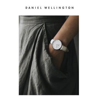 丹尼尔惠灵顿(DanielWellington)DW原装表带14mm皮带银色针扣女款DW00200162(适用于32mm表盘系列)